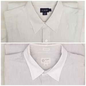 {L}LOT of 2 J. Crew Long Sleeve Button Down Shirts